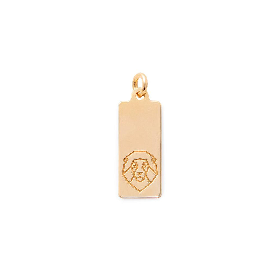 Make a Wish Lion Tag Pendant
