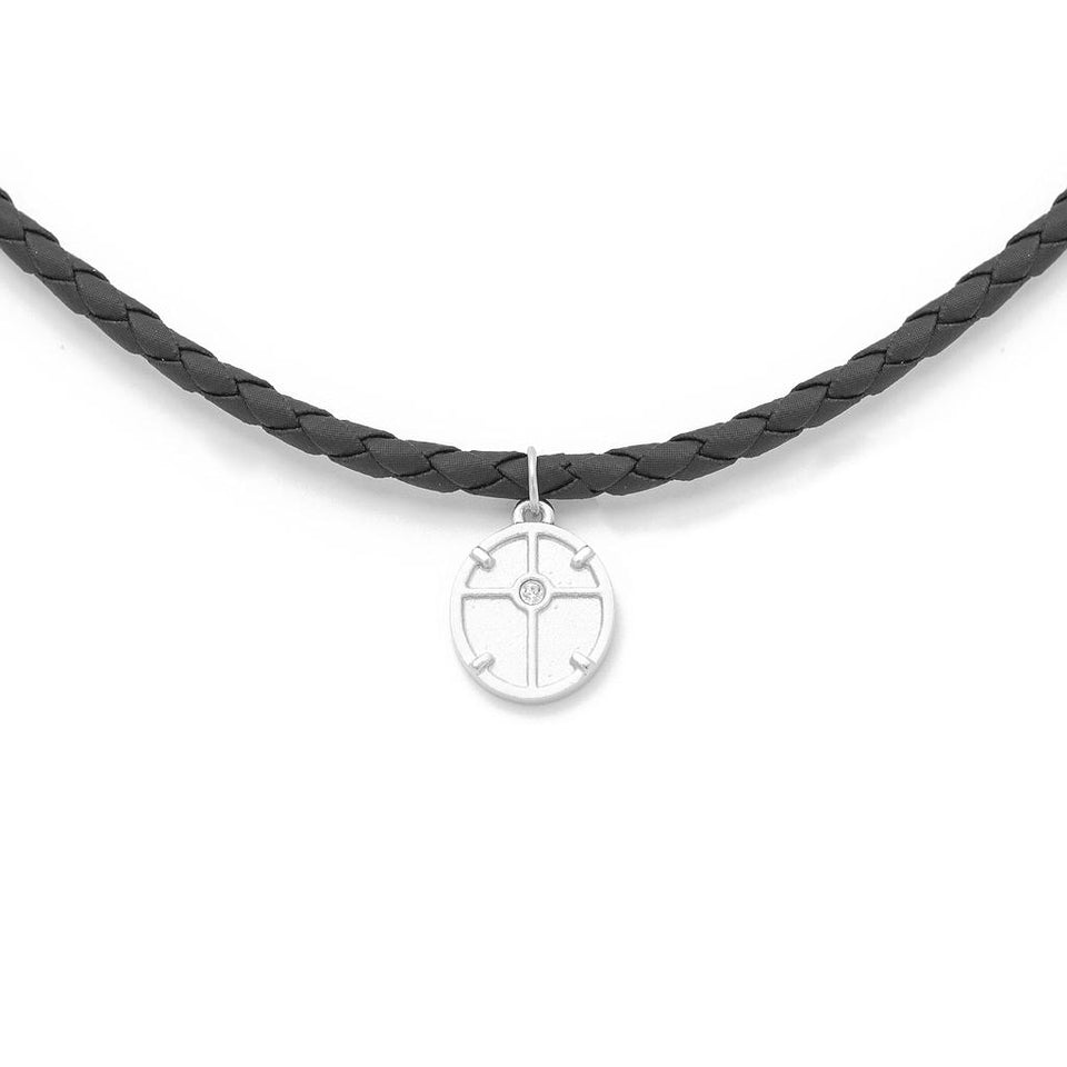 Theia Medal Leather Choker