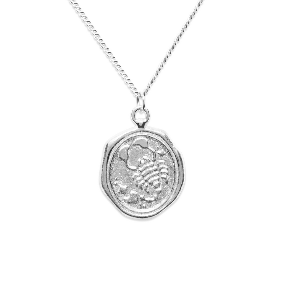 Zodiac Seal Necklace 925 Silver