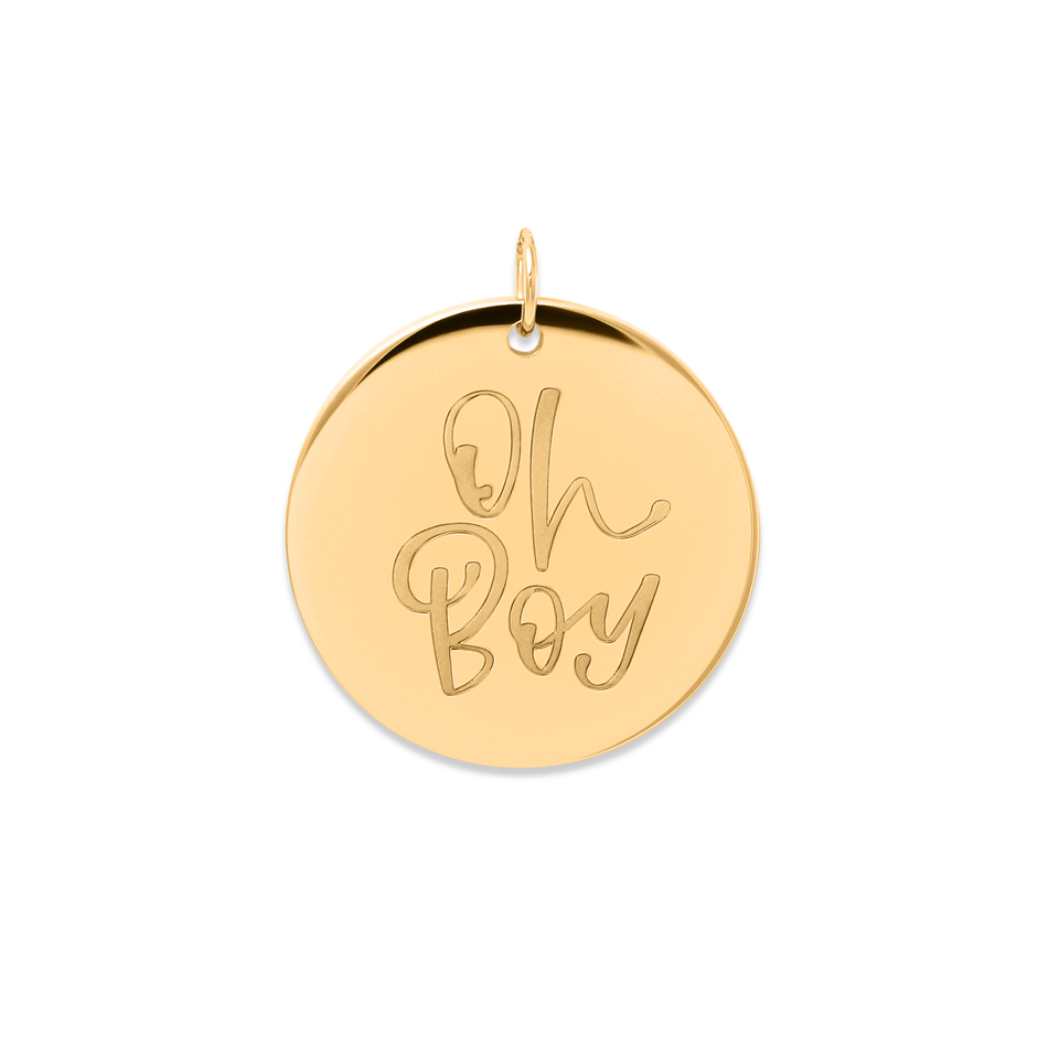 Oh Boy Pendant #mommycollection
