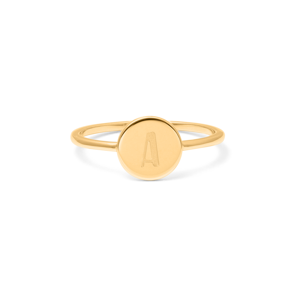 Petite Letter A Ring