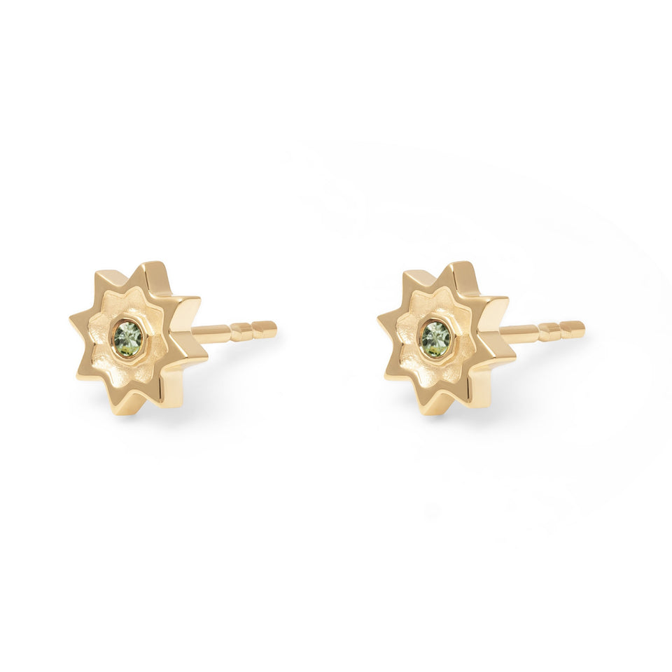 Birthstone AUG Earrings