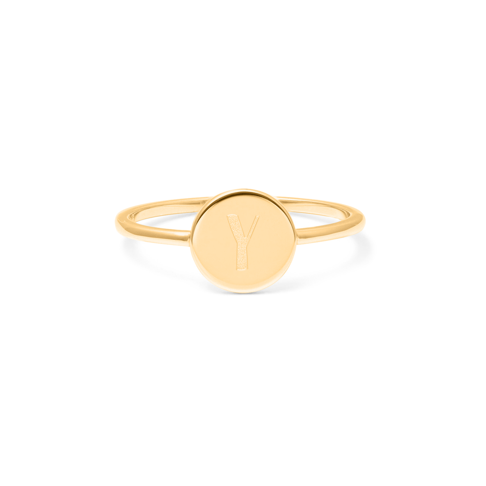 Petite Letter Y Ring