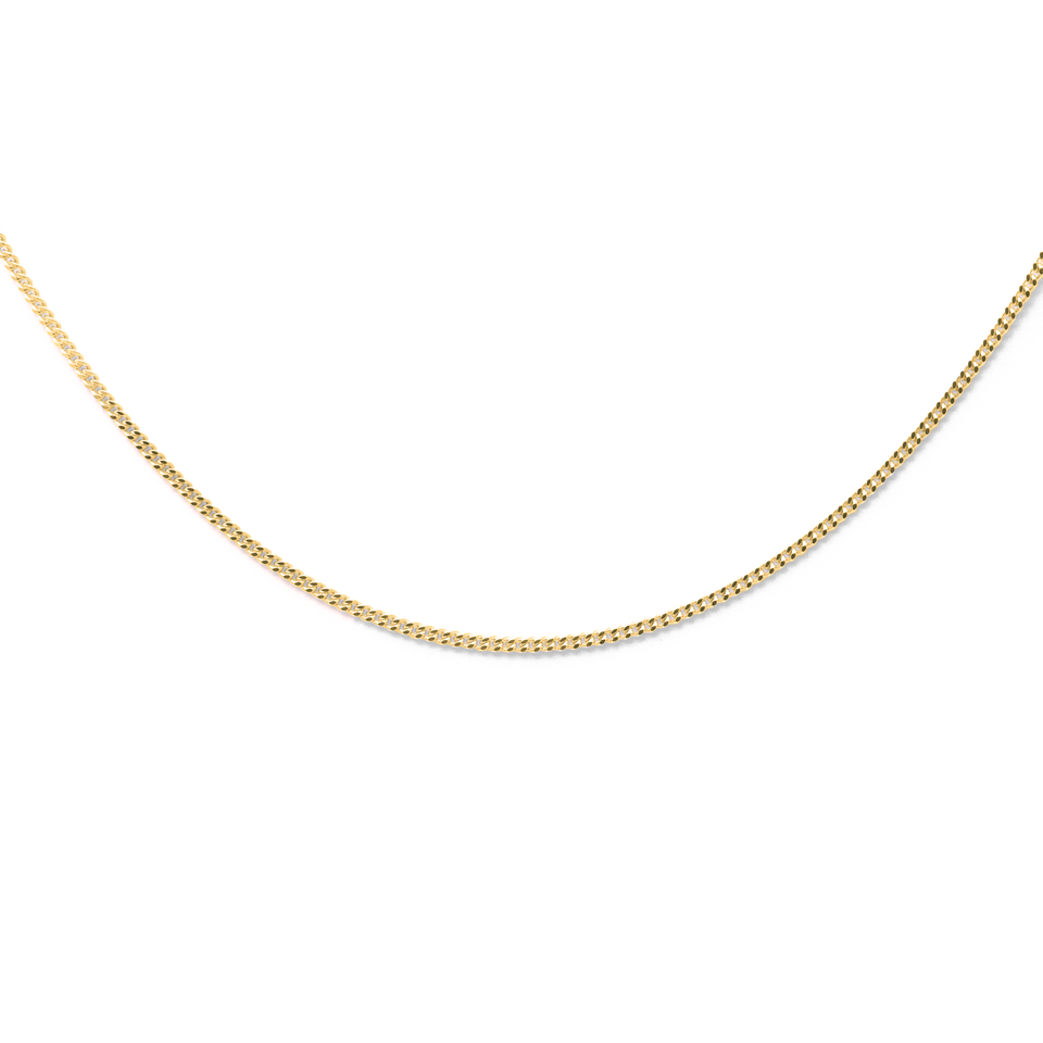 Panzerkette Jewelry stilnest 24ct Gold Vermeil S (45cm)