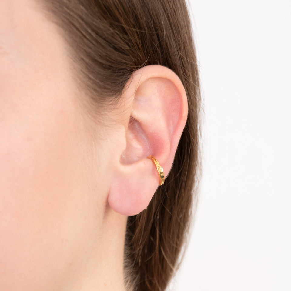 Retro Ear Cuff - Solid Gold