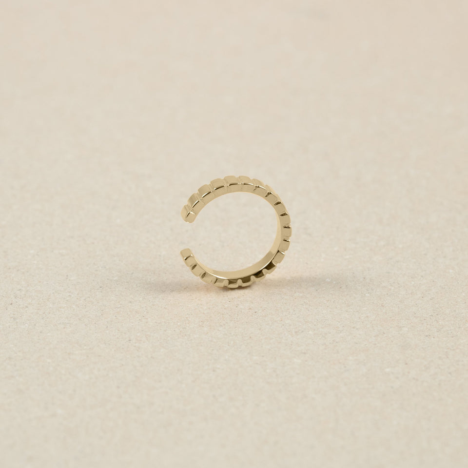 Ridged Earcuff - Solid Gold Jewelry Stilnest