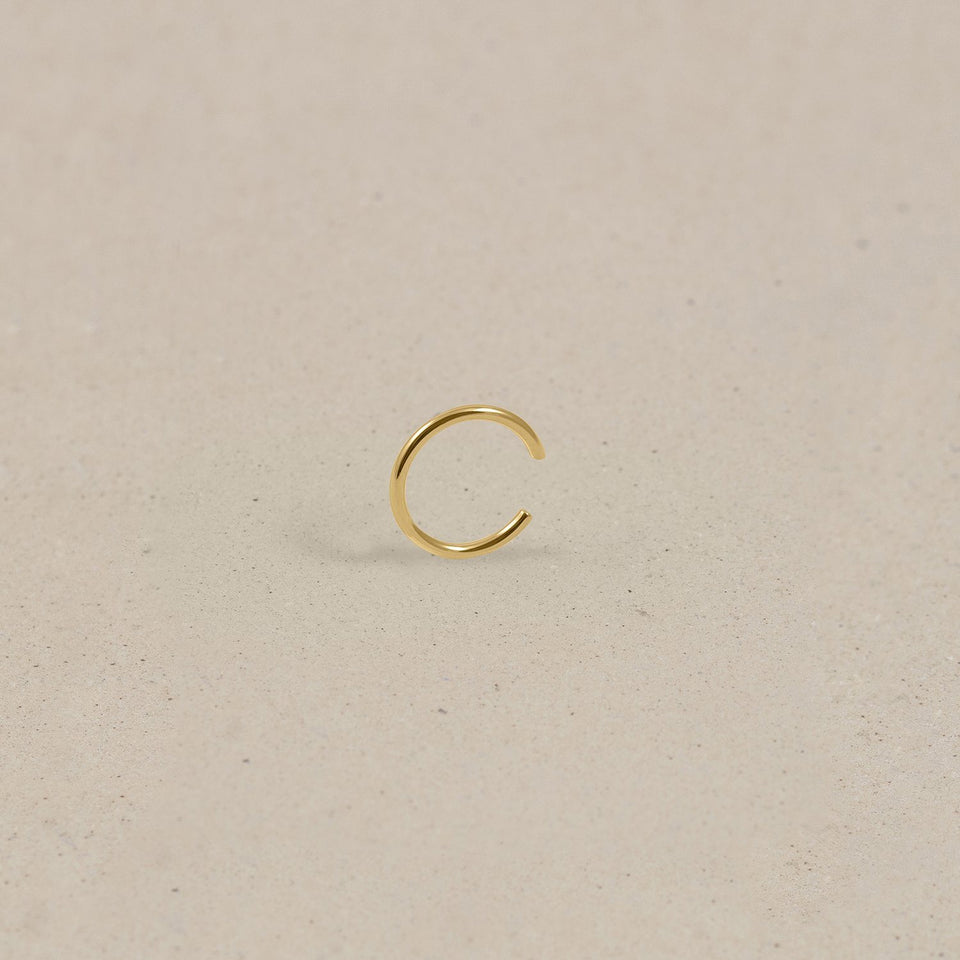 Simple Ear Cuff 14k Massivgold Jewelry stilnest 14k Massivgold