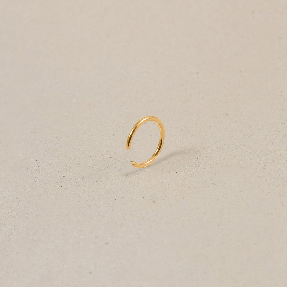 Simple Ear Cuff Jewelry stilnest 24ct Gold Vermeil