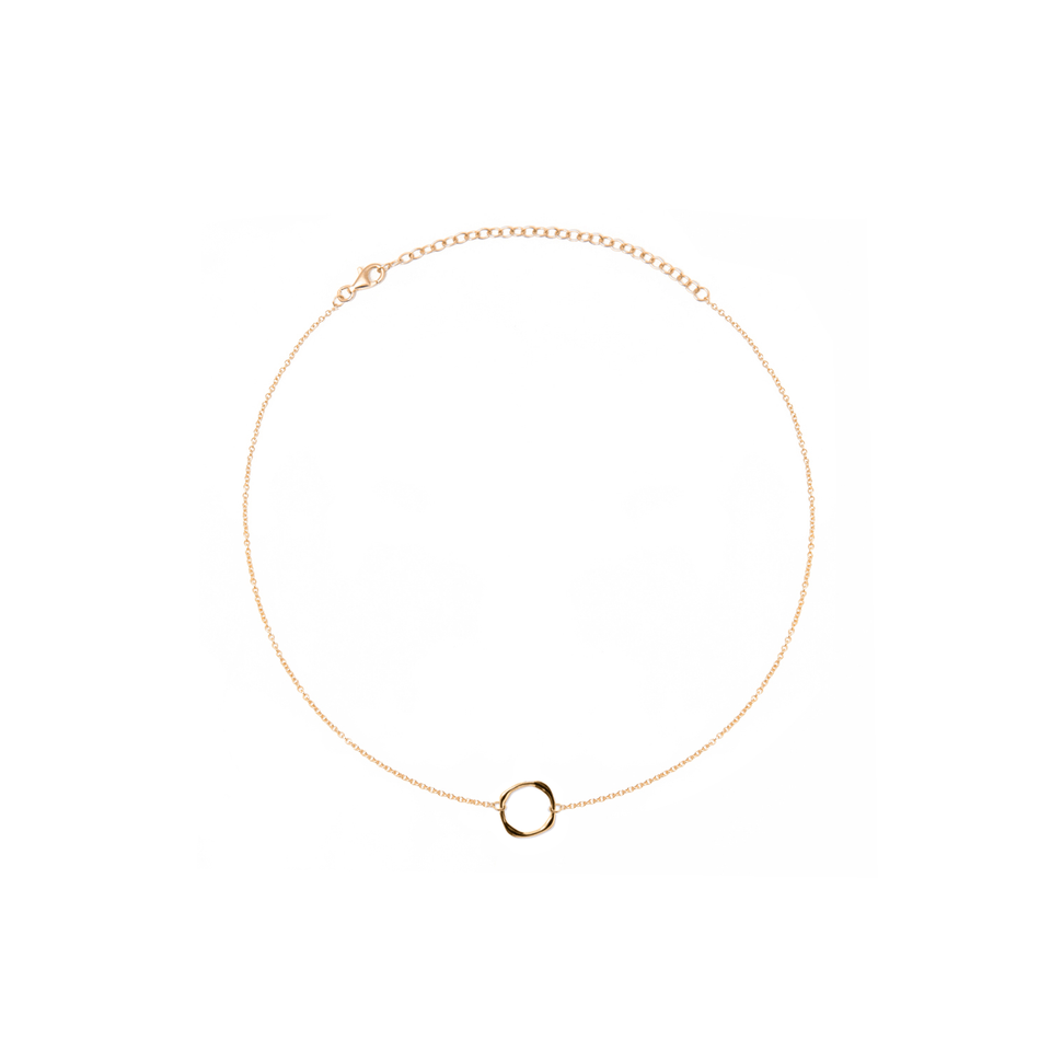Twist Circle Choker Jewelry stilnest 24ct Gold Vermeil