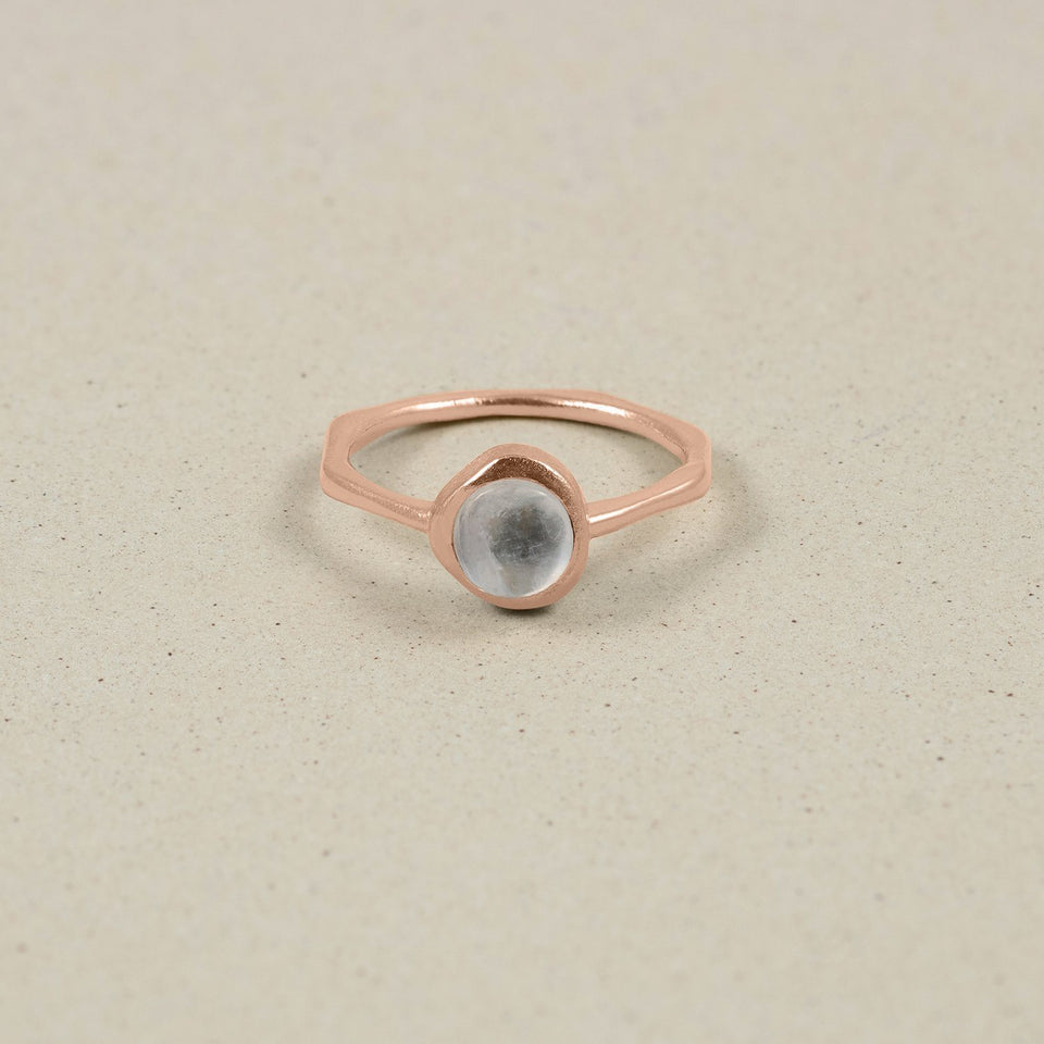 Zodiac Birthstone Ring Rose Gold Vermeil Jewelry stilnest Rose Gold Vermeil S - 52 (16.6mm) Zwillinge
