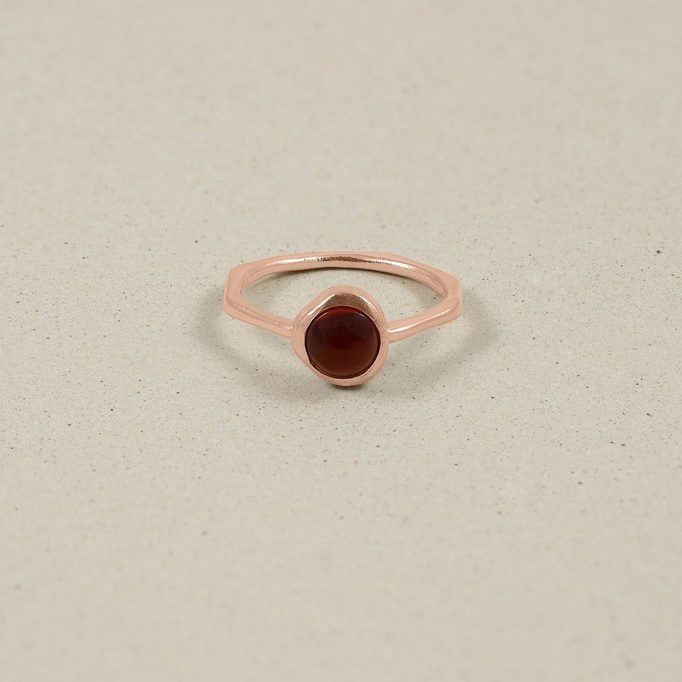 Zodiac Birthstone Ring Rose Gold Vermeil Jewelry stilnest Rose Gold Vermeil XS - 49 (15.6mm) Krebs