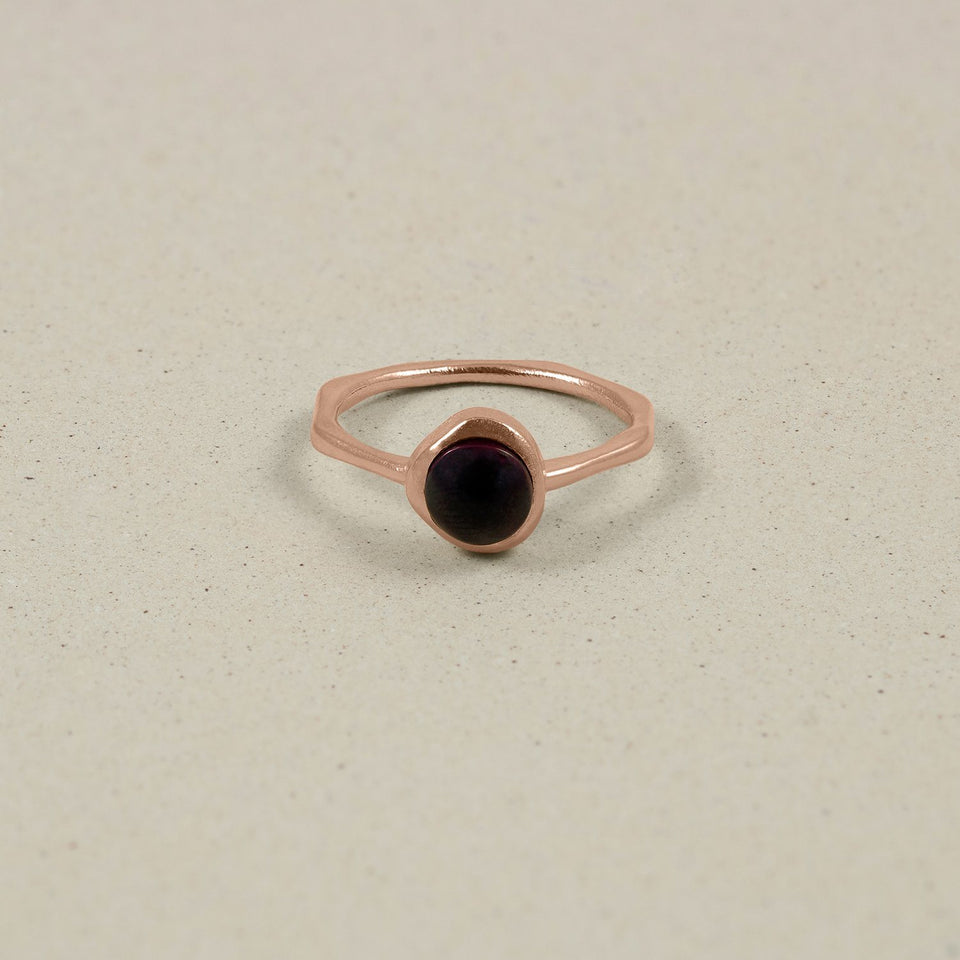 Zodiac Birthstone Ring Rose Gold Vermeil Jewelry stilnest Rose Gold Vermeil XS - 49 (15.6mm) Löwe