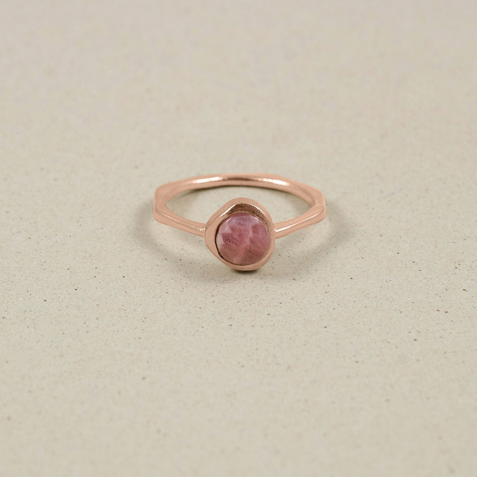 Zodiac Birthstone Ring Rose Gold Vermeil Jewelry stilnest Rose Gold Vermeil XS - 49 (15.6mm) Skorpion