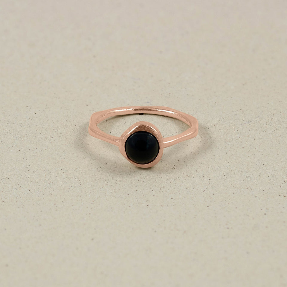 Zodiac Birthstone Ring Rose Gold Vermeil Jewelry stilnest Rose Gold Vermeil XS - 49 (15.6mm) Steinbock