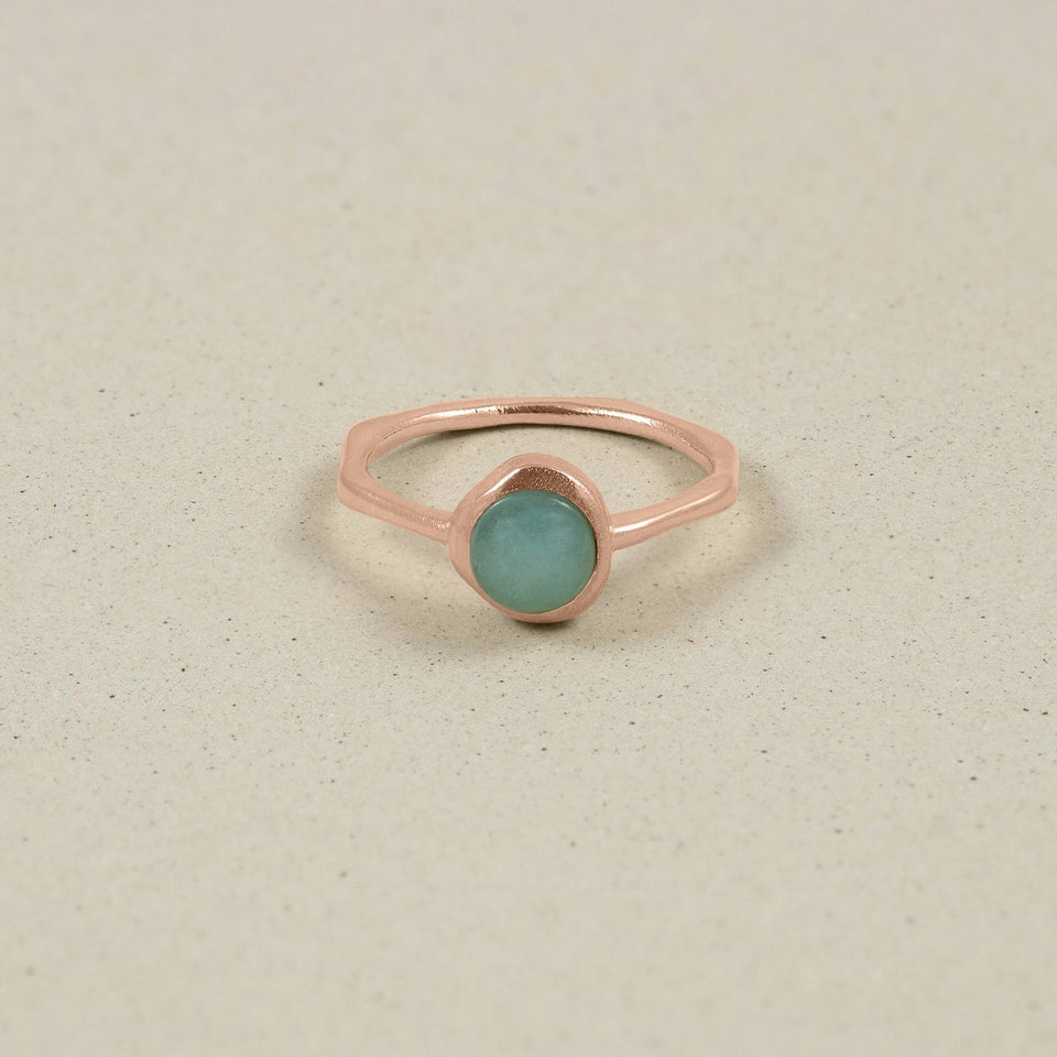 Zodiac Birthstone Ring Rose Gold Vermeil Jewelry stilnest Rose Gold Vermeil XS - 49 (15.6mm) Stier