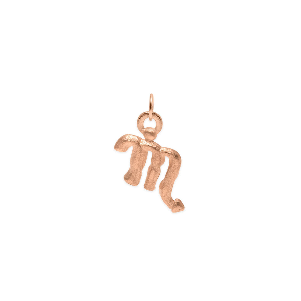 Zodiac Charm Anhänger Jewelry stilnest Rose Gold Vermeil Skorpion