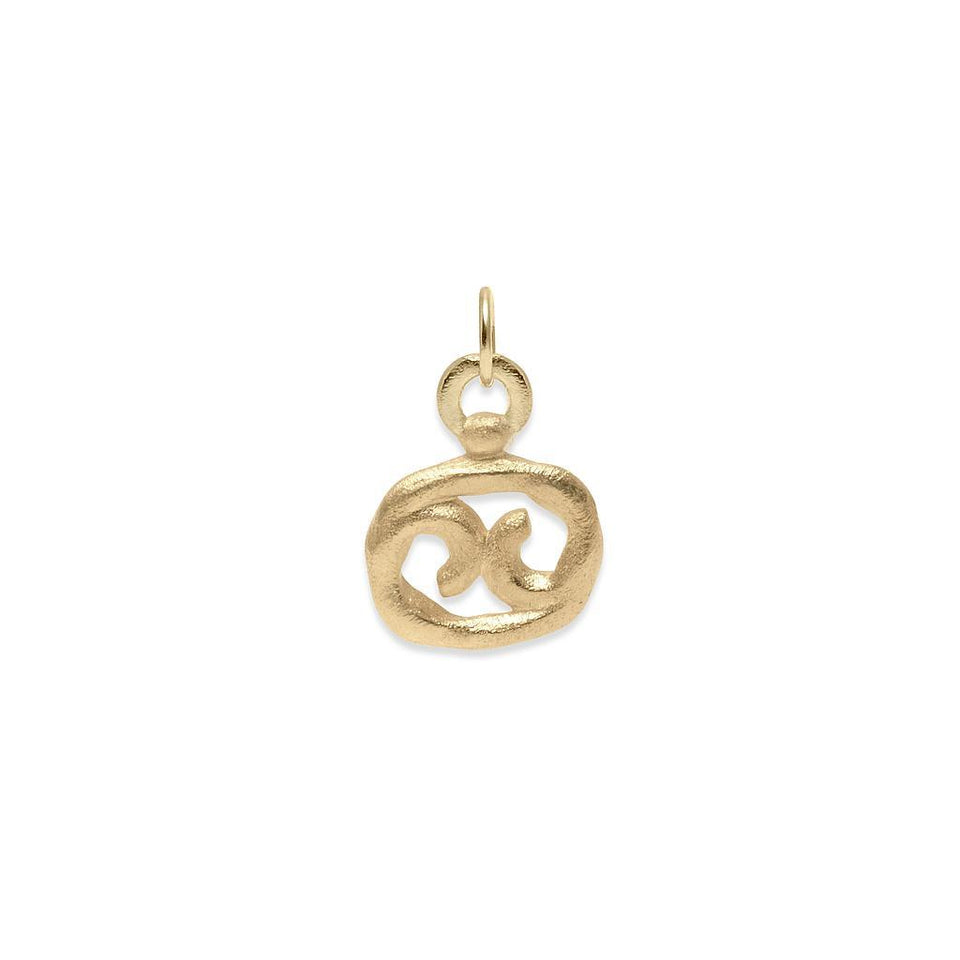 Zodiac Charm Anhänger Massivgold 14k Jewelry stilnest 14ct Solid Gold Krebs