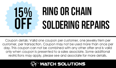 Ring and Chain Soldering Coupon