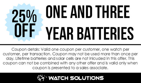 1 and 3 Year Battery Coupon