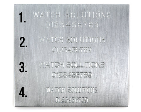 Watch solutions Engraving Sample