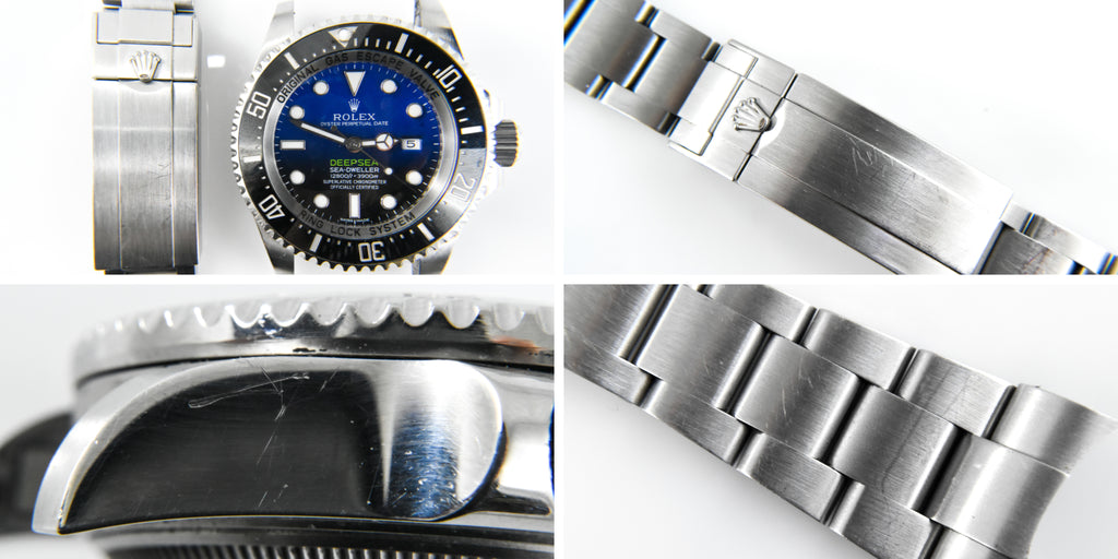 Men's Rolex DeepSea Buffing Before