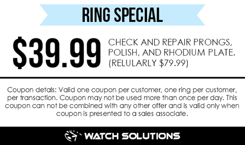 Ring Repair and Cleaning Coupon