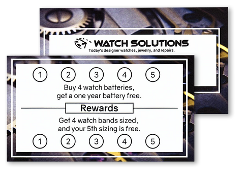 Watch Solutions Reward Cards