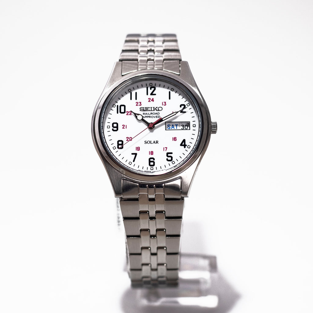 Seiko Solar Stainless Steel Railroad