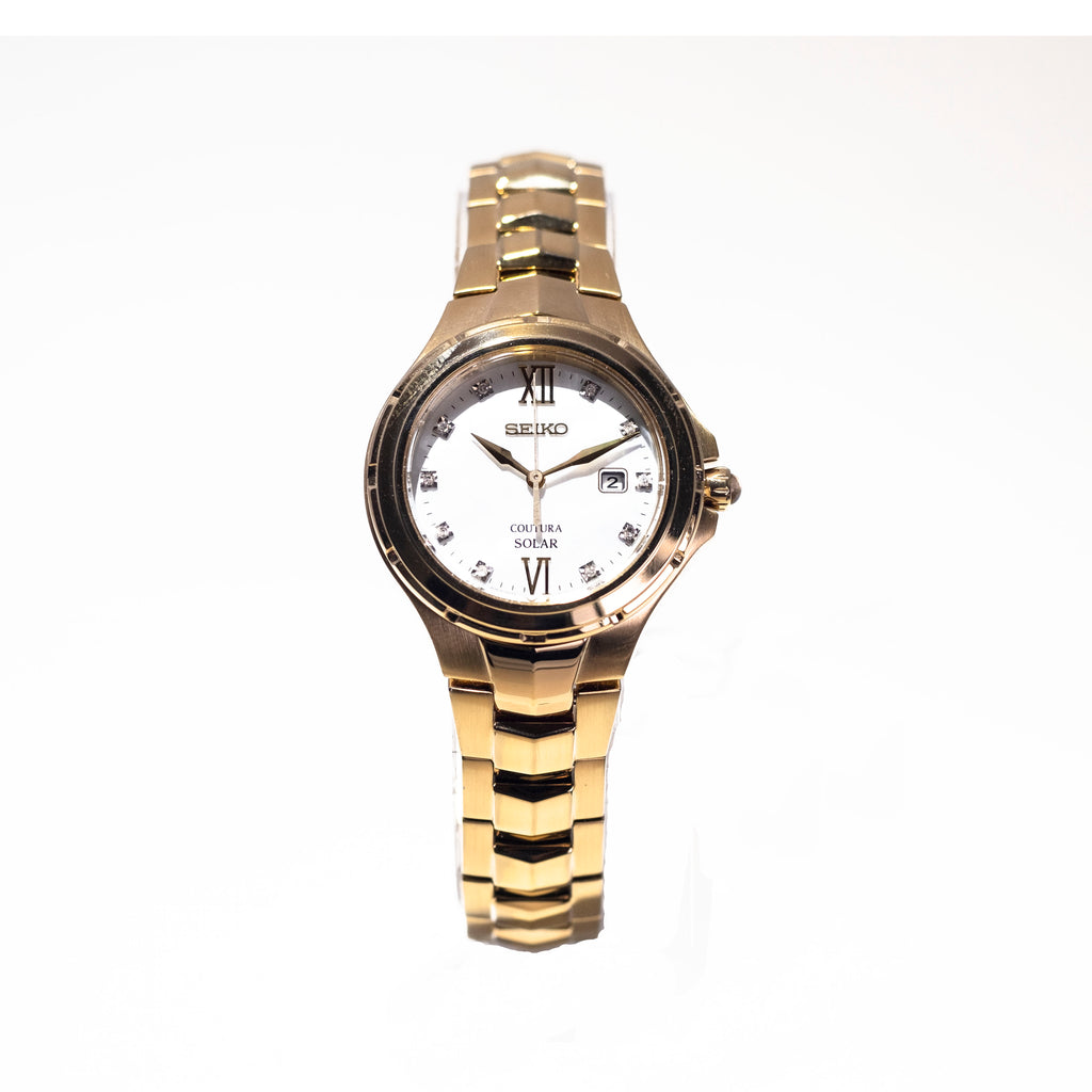 Seiko Women's Gold Coutura Diamond Dial