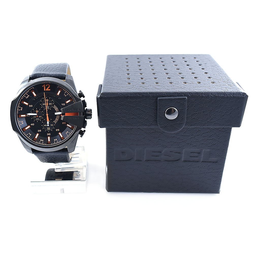 Diesel Mega Chief DZ4291 Chronograph Men's Leather Watch