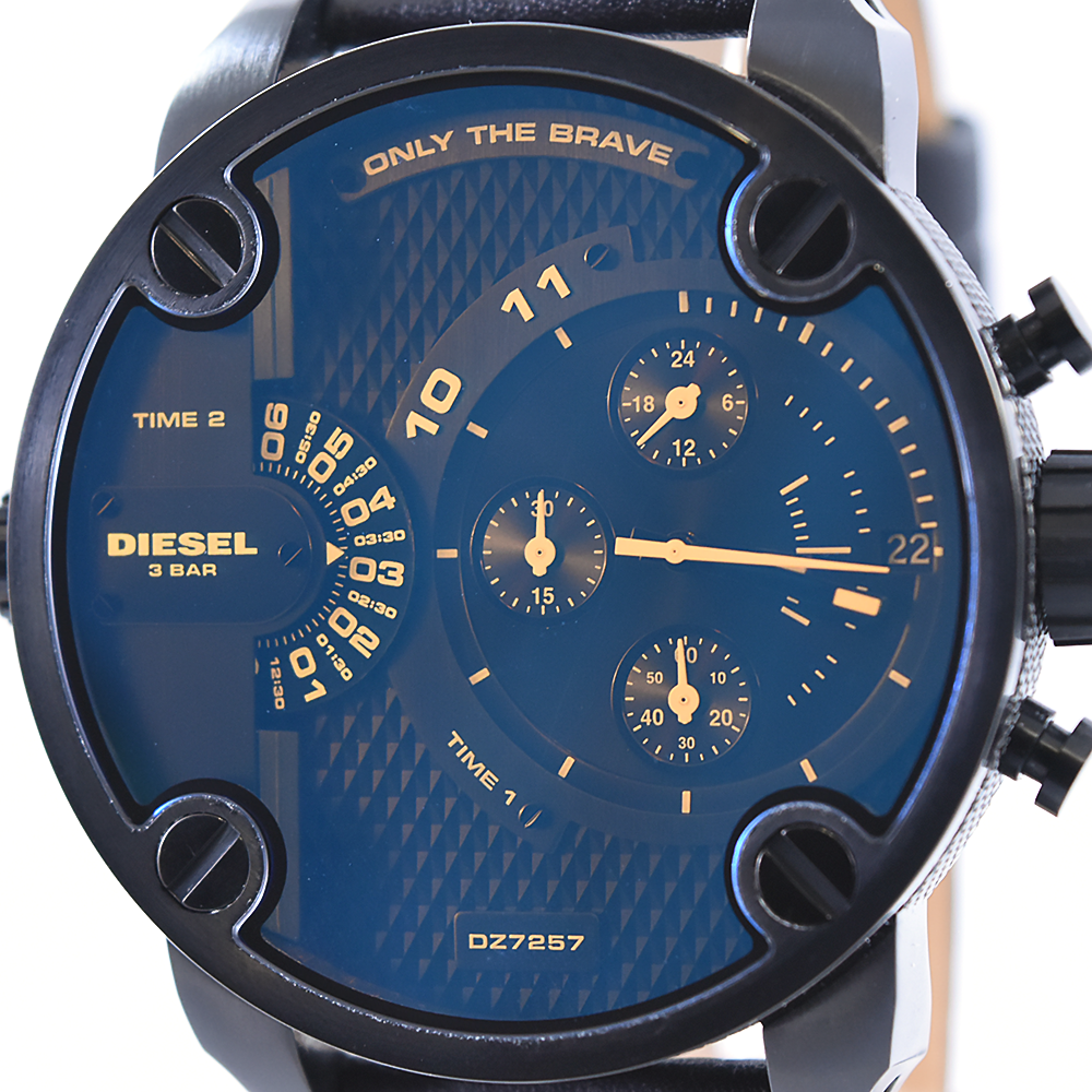 Diesel Little Daddy DZ7257 Men's Chronograph Watch with Leather Band