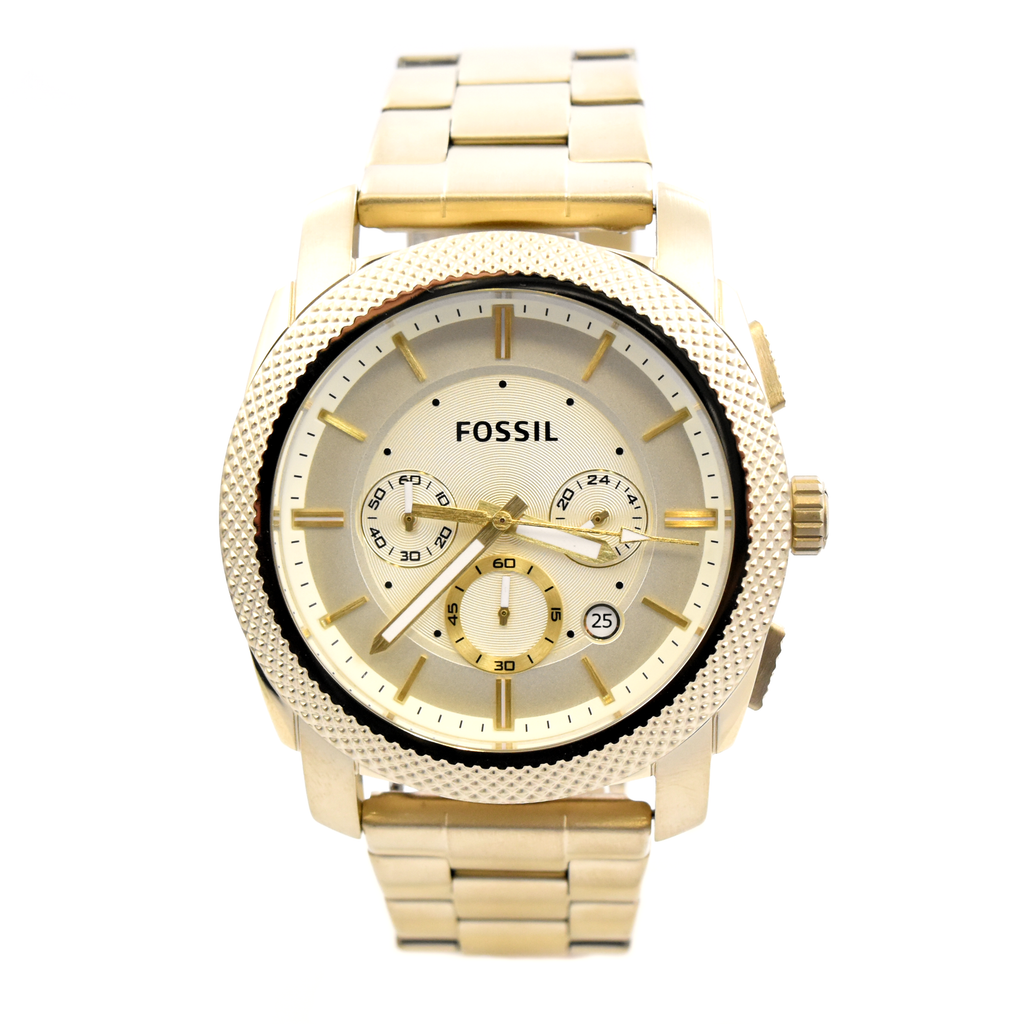 Fossil Machine FS5193 Women's Chronograph Gold-Tone Stainless Steel Watch