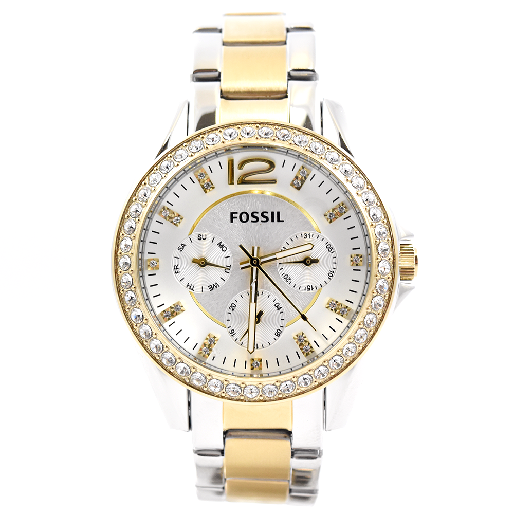 b4339c5012a Fossil Riley ES3204 Multi-Function Two-Tone Women s Watch