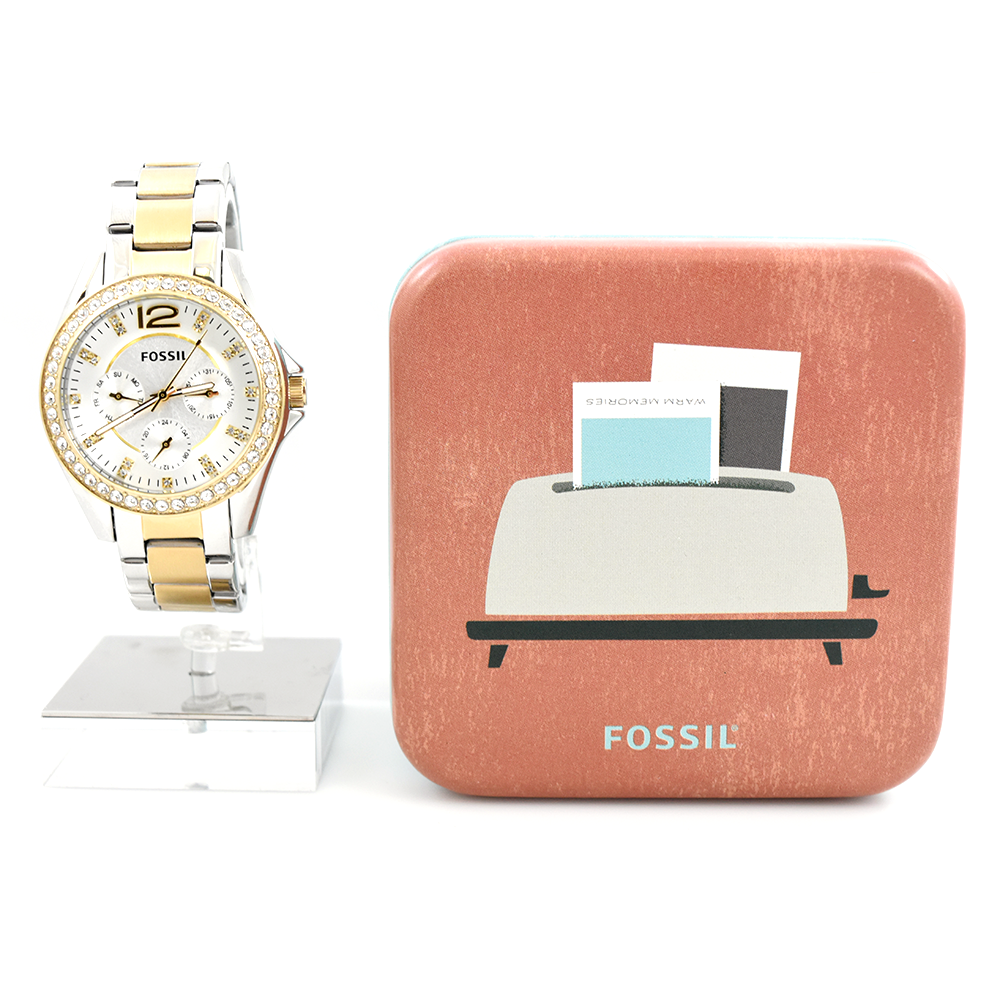 Fossil Riley ES3204 Multi-Function Two-Tone Women's Watch