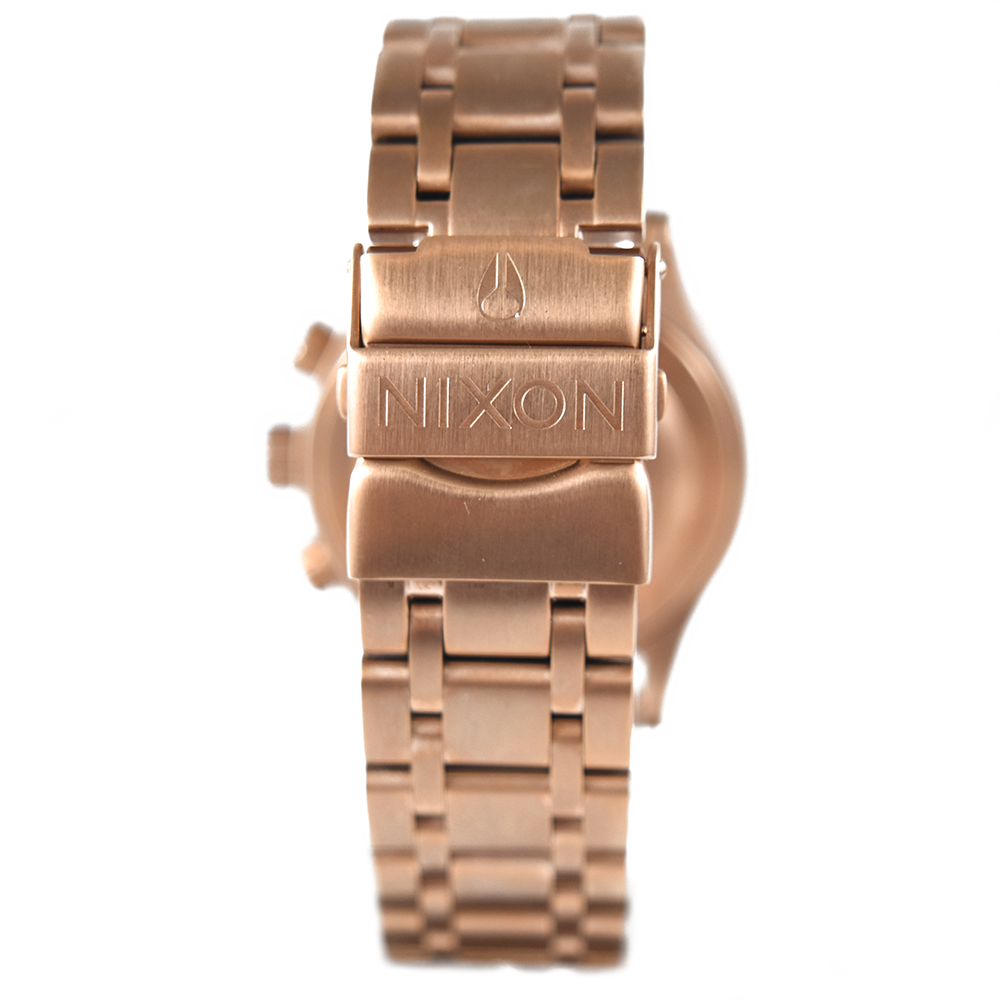 Nixon Women's 38-20 Chrono A404 2361 All Rose Gold / Black Sunray Watch