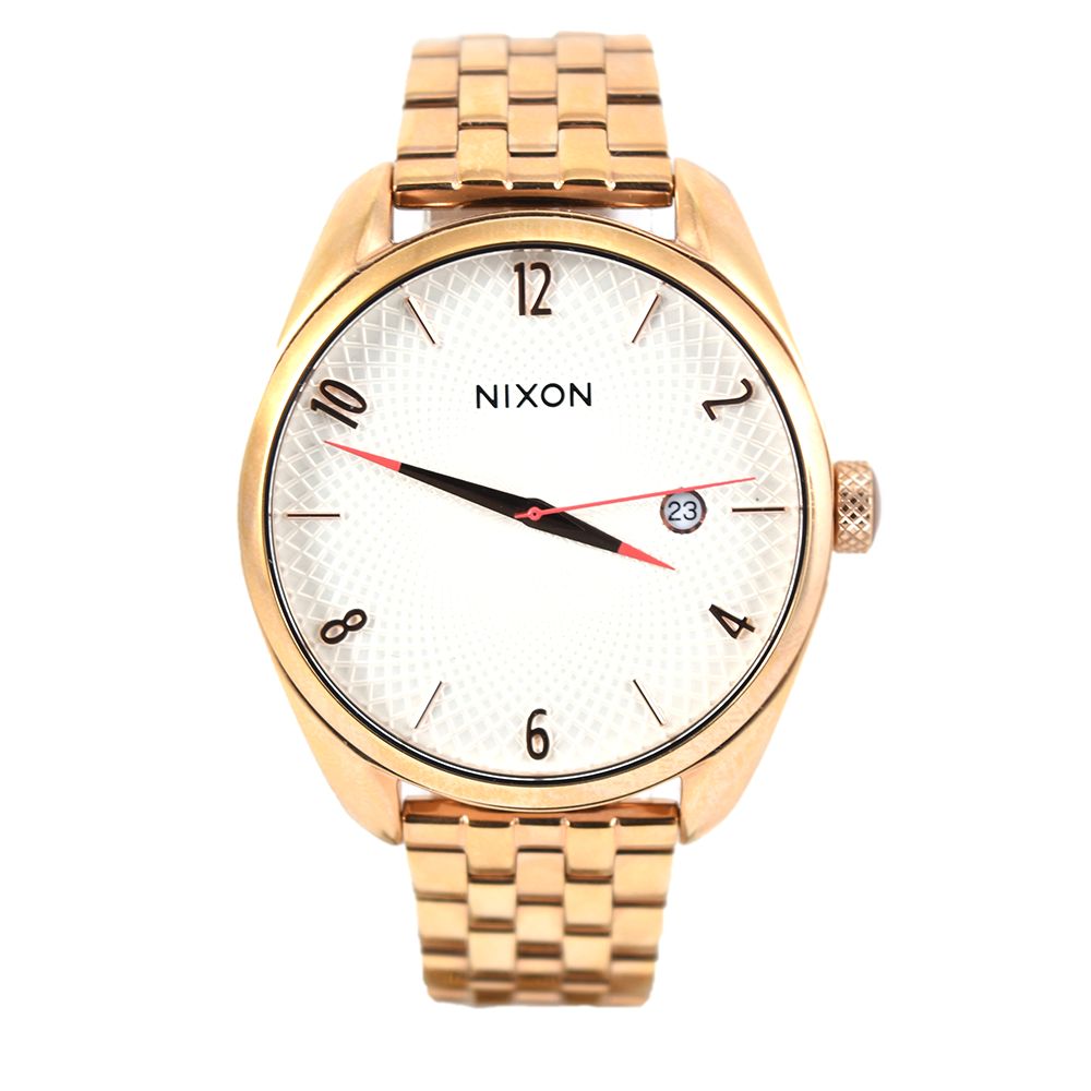 Nixon Women's Bullet A418 2183 All Rose Gold / Silver Watch