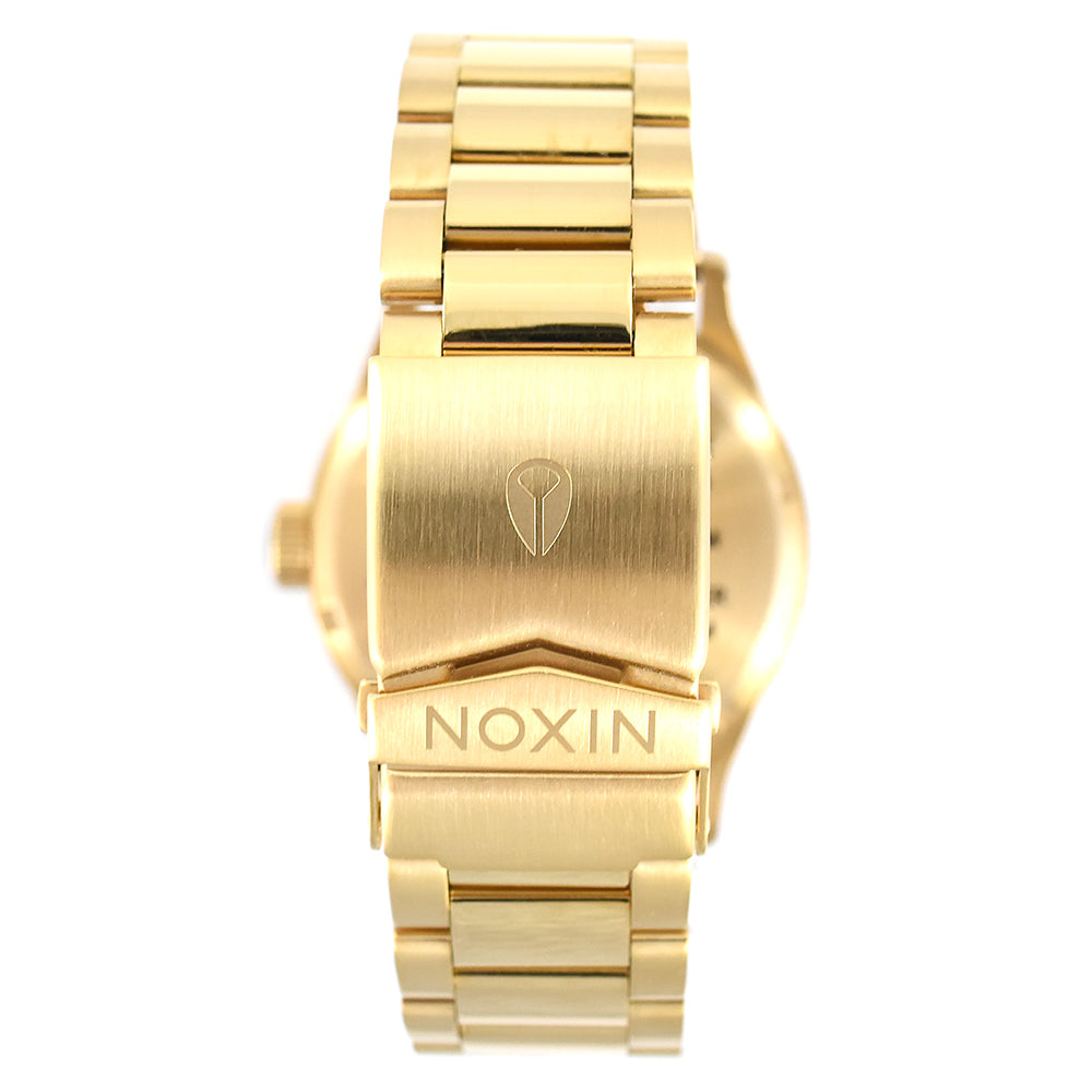 Nixon Sentry SS A356 1919 Gold / Green Sunray Watch