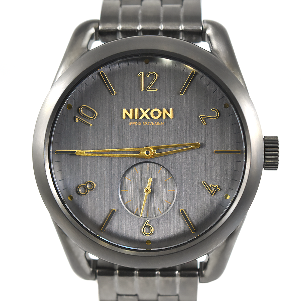 Nixon Women's C39 SS A950 2211 All Gunmetal / Gold watch