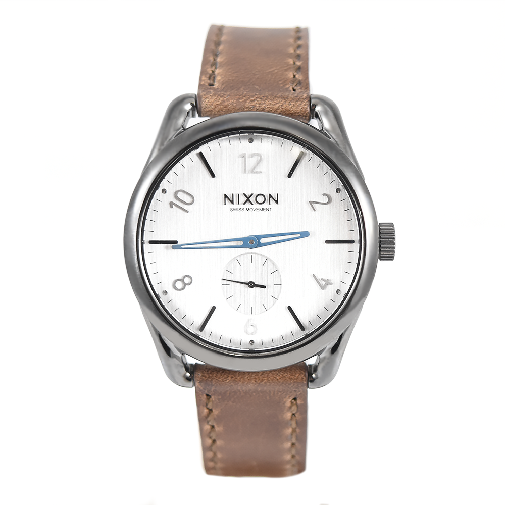Nixon Women's C39 Leather A459 2067 Gunmetal / Chestnut Watch