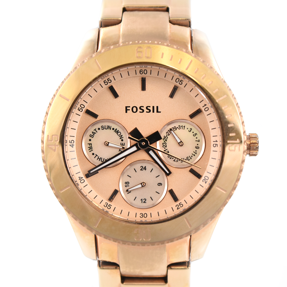 Fossil Stella ES2859 Chronograph Multifunction Rose Gold Watch