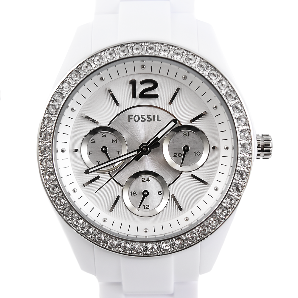 Fossil Stella ES3813 Multifunction White Resin Watch