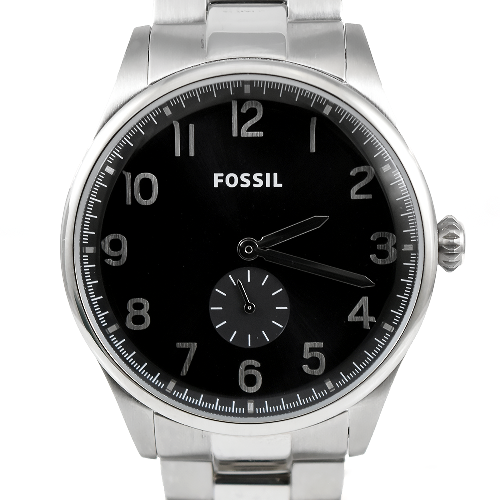 Fossil The Agent FS4852 Black Dial Stainless Steel Men's Watch