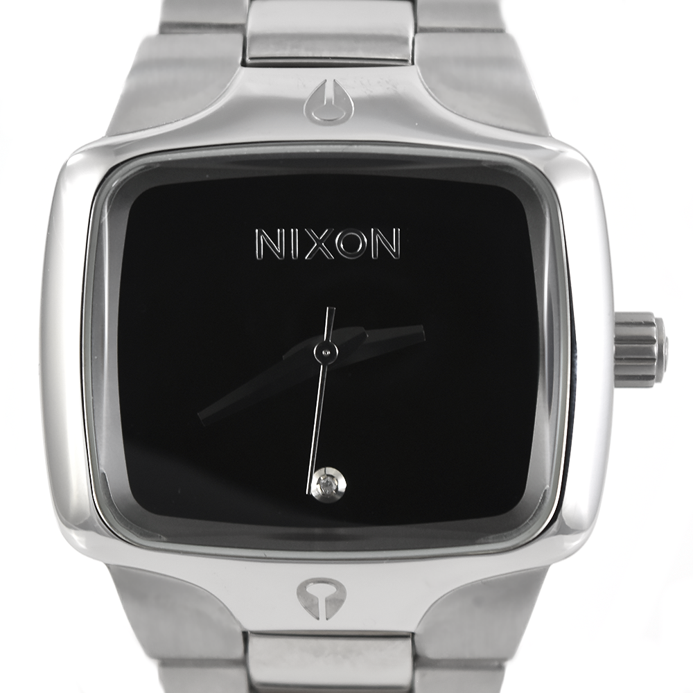 Nixon Small Player A300 000 Black Stainless Steel Watch