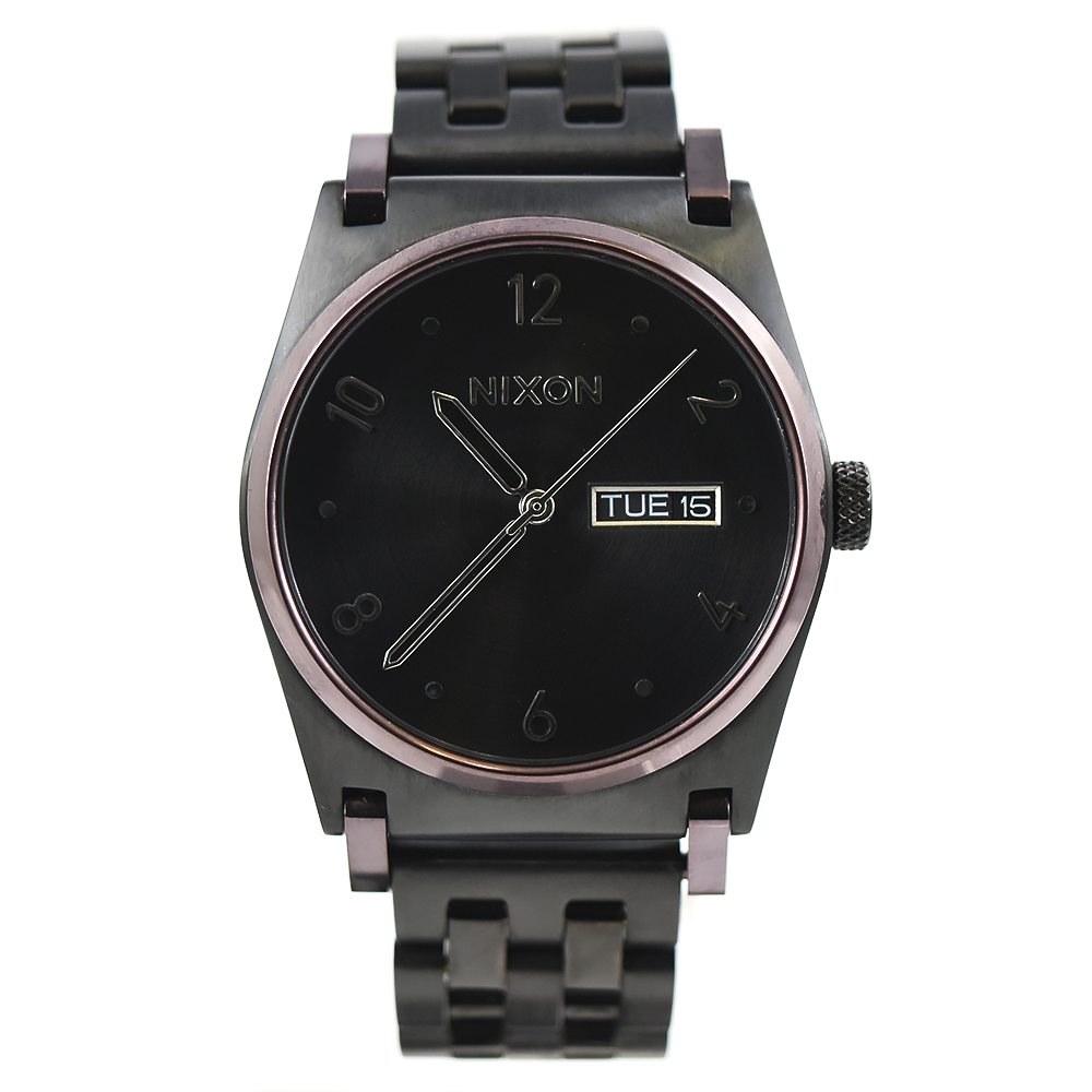 Nixon Jane A954 2231 Black and Plum Stainless Steel Watch
