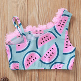 baby girl cute watermelon Swimsuit 0-24mos