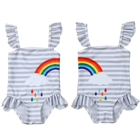1-5Y Rainbow  Bathing suit