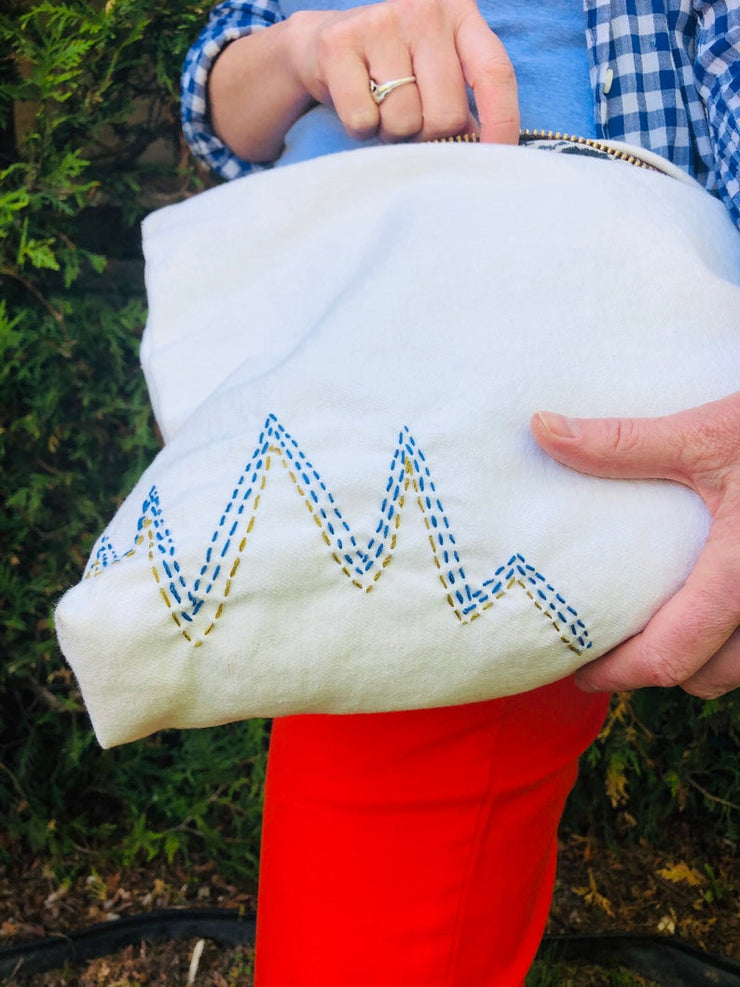 Oversized Organic Cotton Clutch