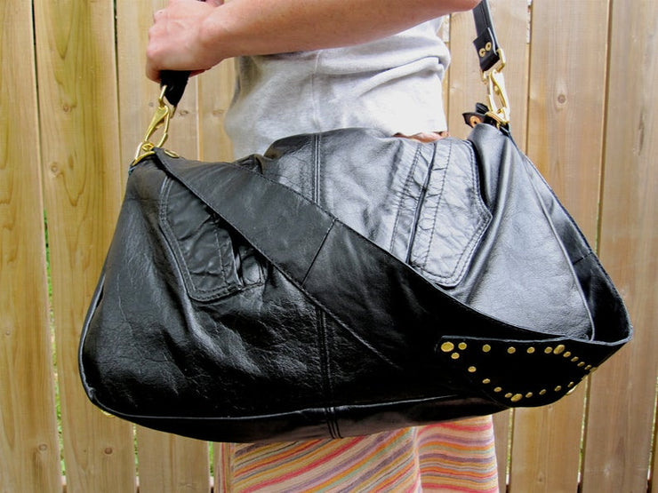 Convertible Day Bag with Detachable Saddle Strap and Pull out Laptop Sleeve