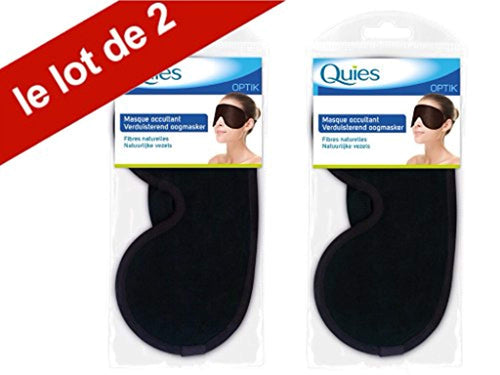 Quies - Quies Masque de Sommeil Occultant OPTIK - Masque de Nuit - Lot de 2 Masques
