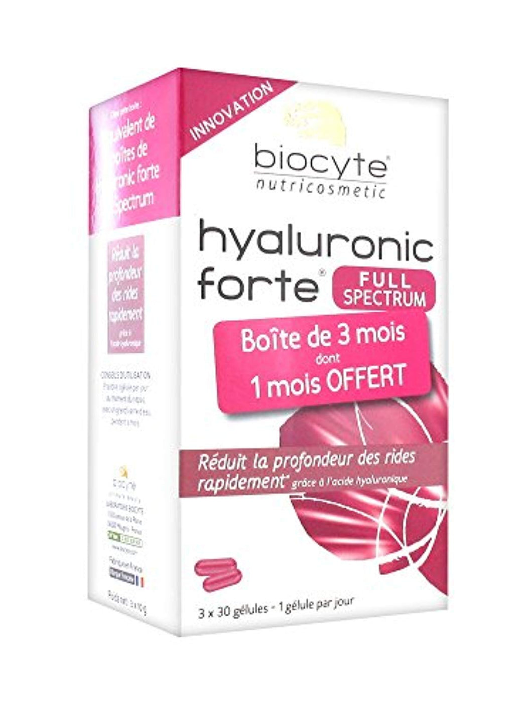 Biocyte Hyaluronic Forte Full Spectrum 3 x 30 Gélules